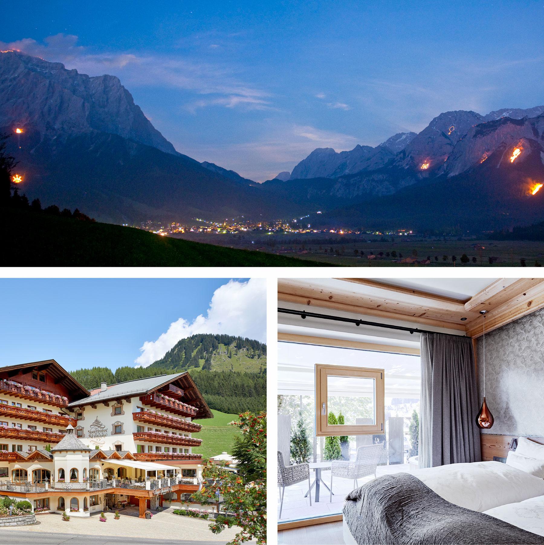 Hotel Singer, tn hotel consulting, hotel pr, tomas niederberghaus, pressemitteilung, bergfeuer, zugspitz arena