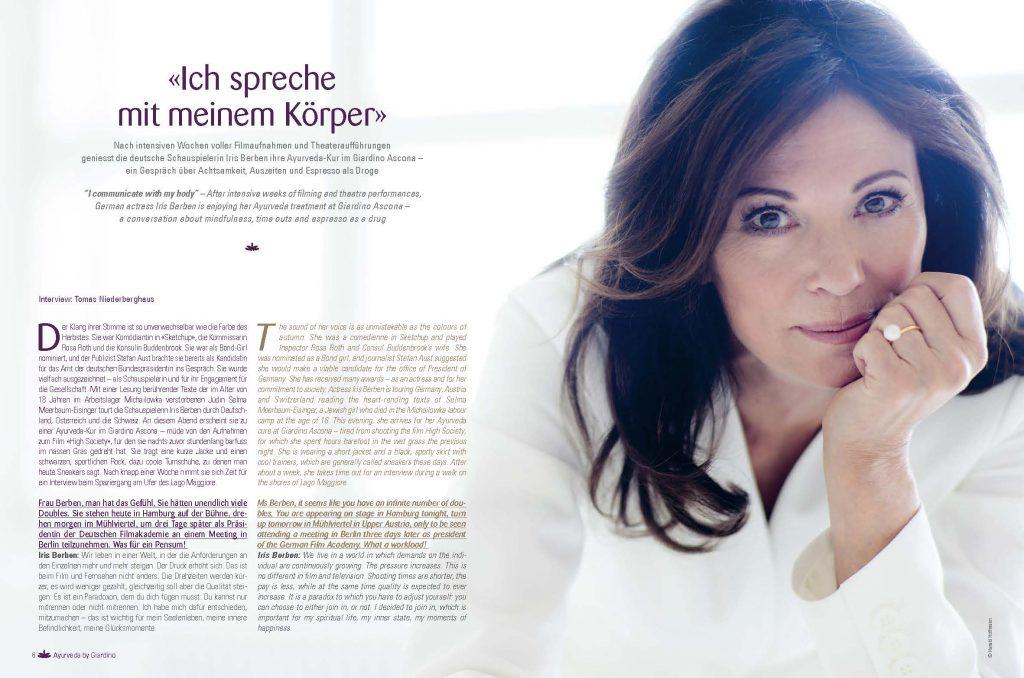 Iris Berben für Giardino Group Magazin