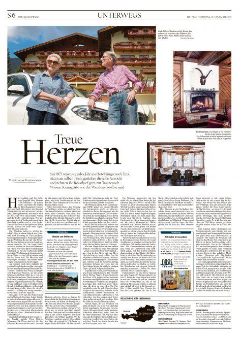 Der Tagesspiegel, Hotel Singer, Berwang