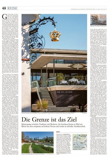 F.A.S., Reise, Hotel Krone Weil am Rhein, TN Hotel Consulting, Hotel PR, Tomas Niederberghaus